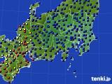 関東・甲信地方のアメダス実況(日照時間)(2016年08月22日)