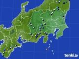 関東・甲信地方のアメダス実況(降水量)(2016年08月23日)