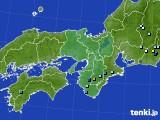2016年08月23日の近畿地方のアメダス(降水量)