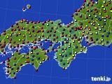 近畿地方のアメダス実況(日照時間)(2016年08月23日)