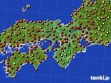 2016年08月23日の近畿地方のアメダス(気温)