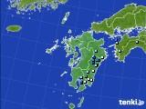 九州地方のアメダス実況(降水量)(2016年08月24日)