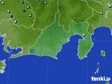 静岡県のアメダス実況(降水量)(2016年08月24日)
