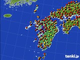 2016年08月24日の九州地方のアメダス(気温)