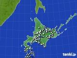 北海道地方のアメダス実況(降水量)(2016年08月26日)