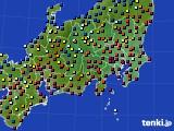 関東・甲信地方のアメダス実況(日照時間)(2016年08月26日)