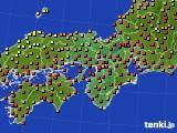 2016年08月26日の近畿地方のアメダス(気温)