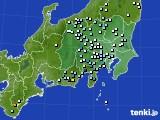 関東・甲信地方のアメダス実況(降水量)(2016年08月27日)
