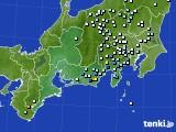 2016年08月27日の東海地方のアメダス(降水量)
