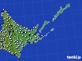 道東のアメダス実況(風向・風速)(2016年08月27日)