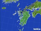 九州地方のアメダス実況(降水量)(2016年08月28日)
