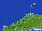 島根県のアメダス実況(降水量)(2016年08月28日)