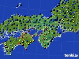 2016年08月28日の近畿地方のアメダス(日照時間)