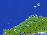 島根県のアメダス実況(気温)(2016年08月28日)