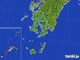 鹿児島県のアメダス実況(気温)(2016年08月28日)