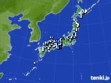 アメダス実況(降水量)(2016年08月29日)