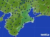 三重県のアメダス実況(日照時間)(2016年08月29日)