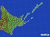 道東のアメダス実況(気温)(2016年08月29日)