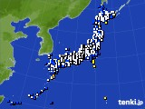 2016年08月29日のアメダス(風向・風速)