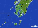 鹿児島県のアメダス実況(風向・風速)(2016年08月29日)