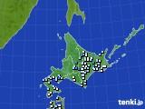 北海道地方のアメダス実況(降水量)(2016年08月30日)