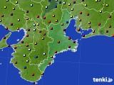 三重県のアメダス実況(日照時間)(2016年08月30日)