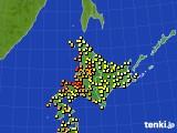 北海道地方のアメダス実況(気温)(2016年08月30日)