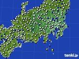 関東・甲信地方のアメダス実況(風向・風速)(2016年08月30日)