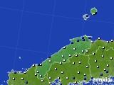 島根県のアメダス実況(風向・風速)(2016年08月30日)