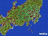 2016年08月31日の関東・甲信地方のアメダス(気温)