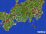 2016年08月31日の東海地方のアメダス(気温)