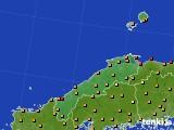 島根県のアメダス実況(気温)(2016年08月31日)