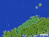島根県のアメダス実況(風向・風速)(2016年08月31日)