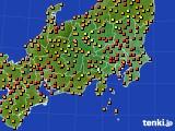 2016年09月01日の関東・甲信地方のアメダス(気温)