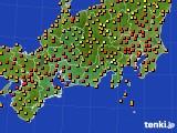 2016年09月01日の東海地方のアメダス(気温)