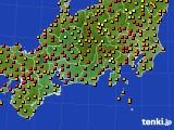 2016年09月02日の東海地方のアメダス(気温)