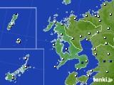 長崎県のアメダス実況(風向・風速)(2016年09月02日)