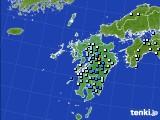 九州地方のアメダス実況(降水量)(2016年09月04日)