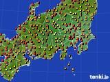 2016年09月04日の関東・甲信地方のアメダス(気温)