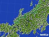 北陸地方のアメダス実況(風向・風速)(2016年09月04日)