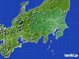 関東・甲信地方のアメダス実況(降水量)(2016年09月05日)