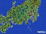 関東・甲信地方のアメダス実況(日照時間)(2016年09月05日)