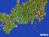 2016年09月05日の東海地方のアメダス(気温)
