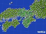 2016年09月05日の近畿地方のアメダス(風向・風速)