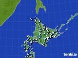 北海道地方のアメダス実況(降水量)(2016年09月06日)