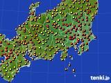 2016年09月06日の関東・甲信地方のアメダス(気温)