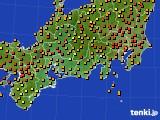 2016年09月06日の東海地方のアメダス(気温)