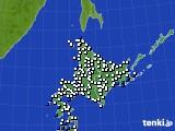 北海道地方のアメダス実況(風向・風速)(2016年09月06日)