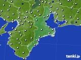2016年09月07日の三重県のアメダス(風向・風速)