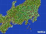 2016年09月08日の関東・甲信地方のアメダス(気温)